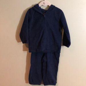 NWOT Jumping Beans Infants Fleece Sweatsuit